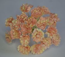 2 TONE PALE CORAL PINK GYPSOPHILA / FORGET ME NOT Mulberry Paper Flowers